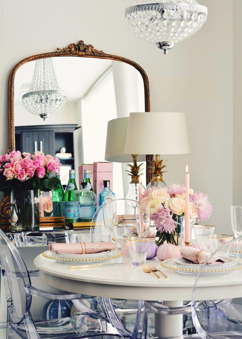 pink fall decor