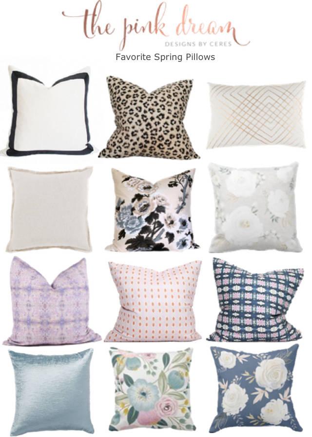My Favorite Spring Pillows
