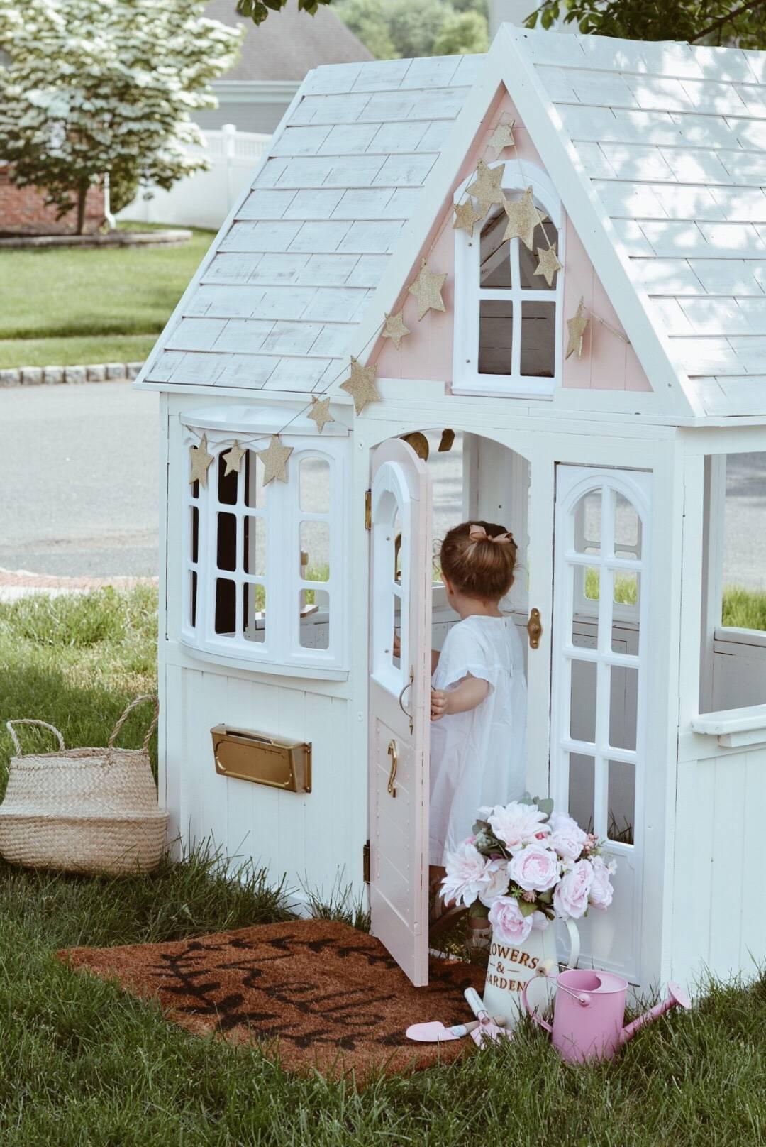 Costco Playhouse Hack How To Transform An Outdoor Cedar