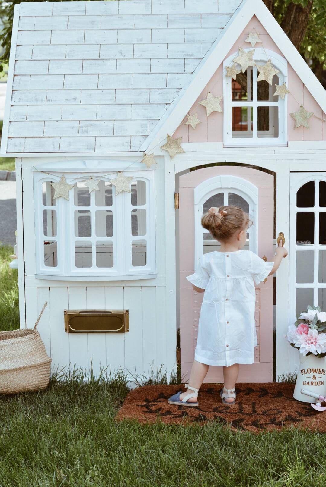 Costco Playhouse Hack How To Transform An Outdoor Cedar Playhouse