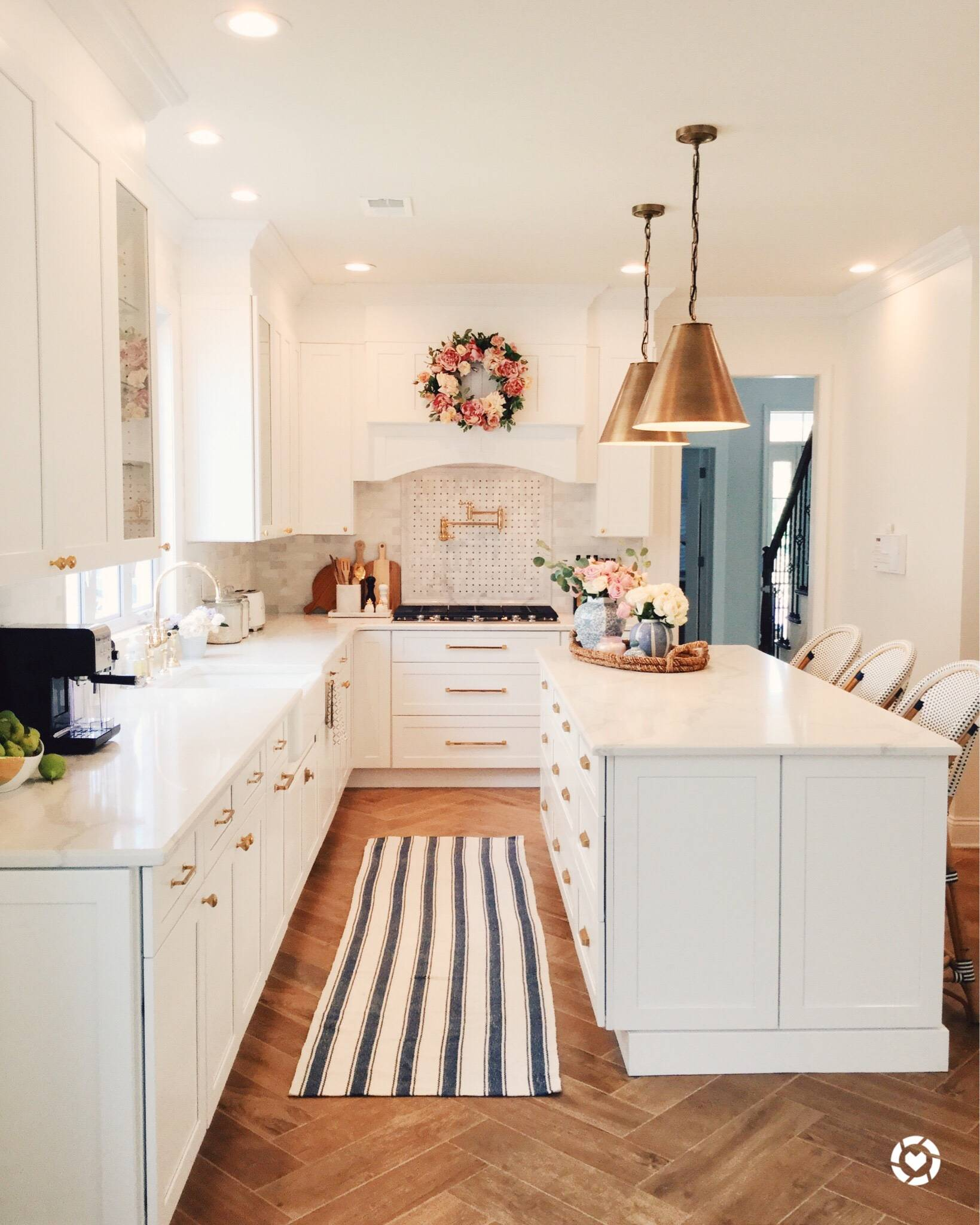 Kitchen Cabinets And Countertops Cost: Kitchen Renovation Steps: Herringbone Floors, White