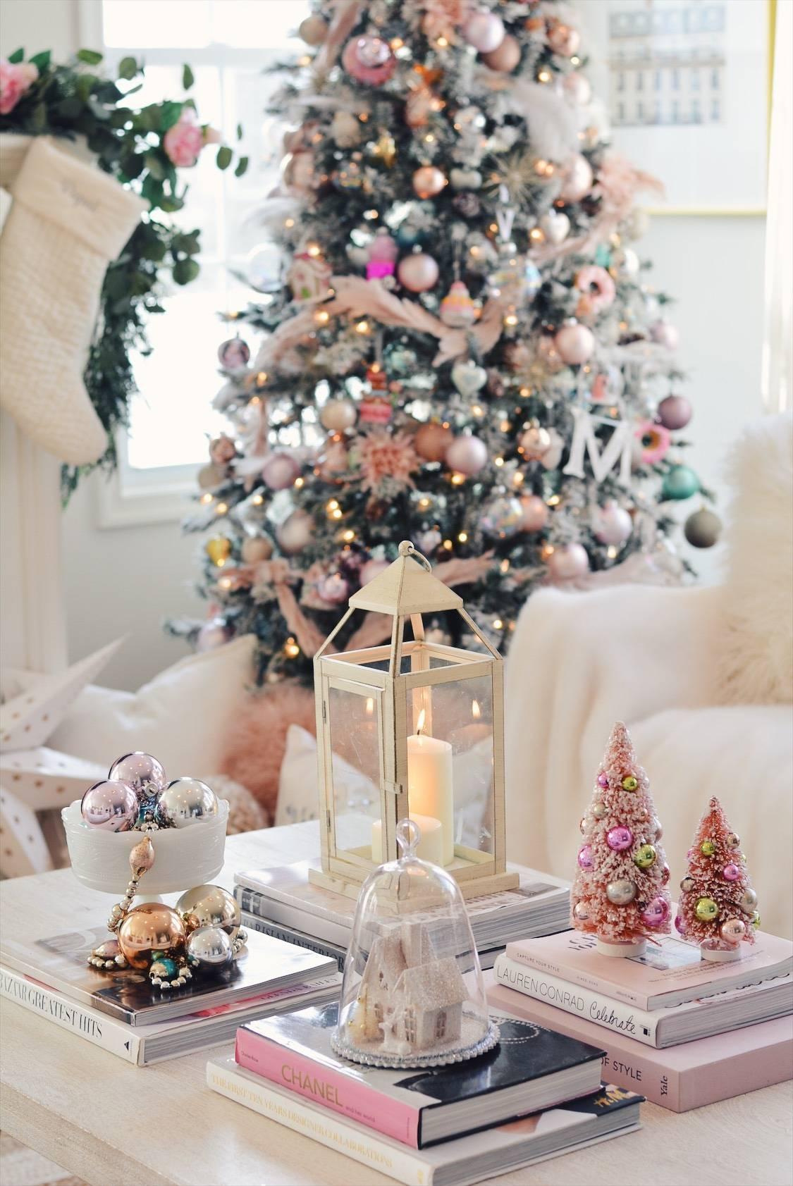 Elegant Christmas Pink Christmas Tree Decor The Pink Dream