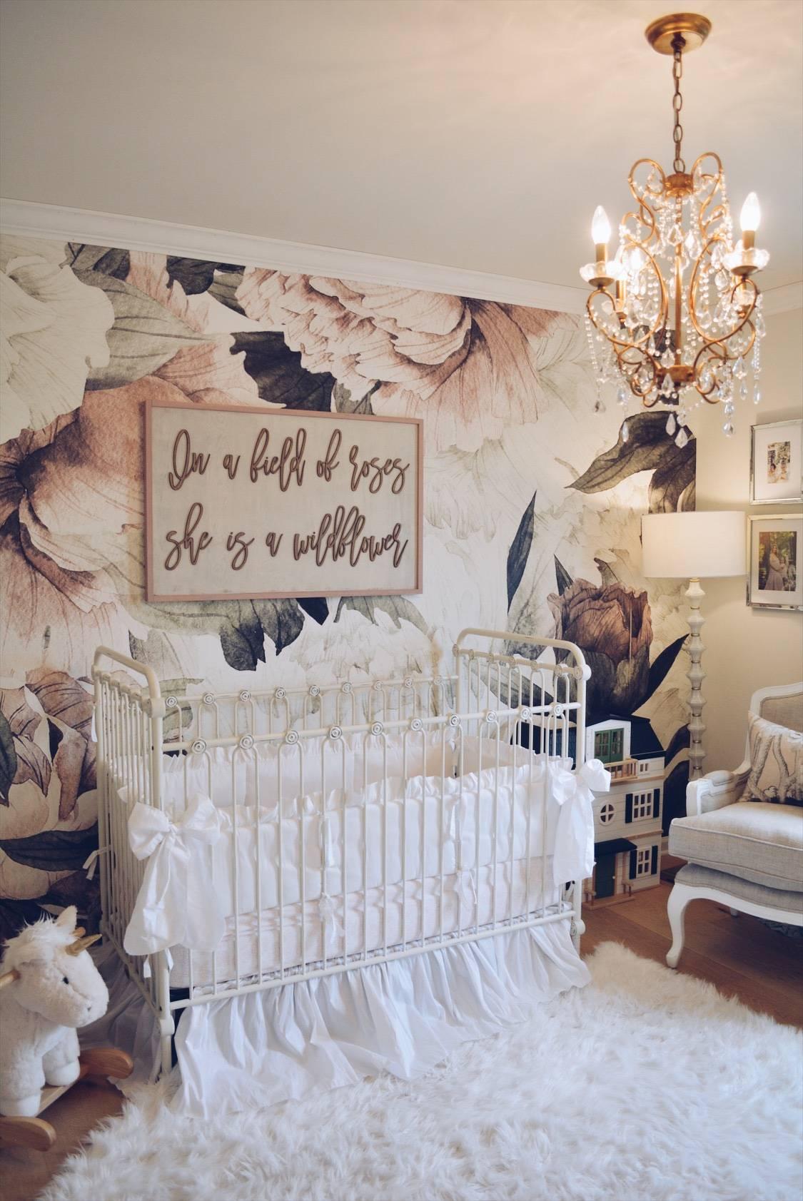Flower Wallpaper Nursery The Pink Dream