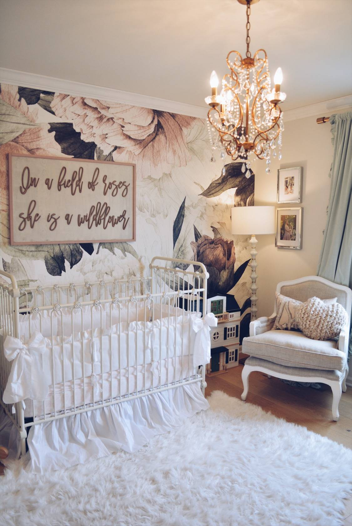 Floral Wallpaper Nursery - A Vintage Inspired Nursery ...